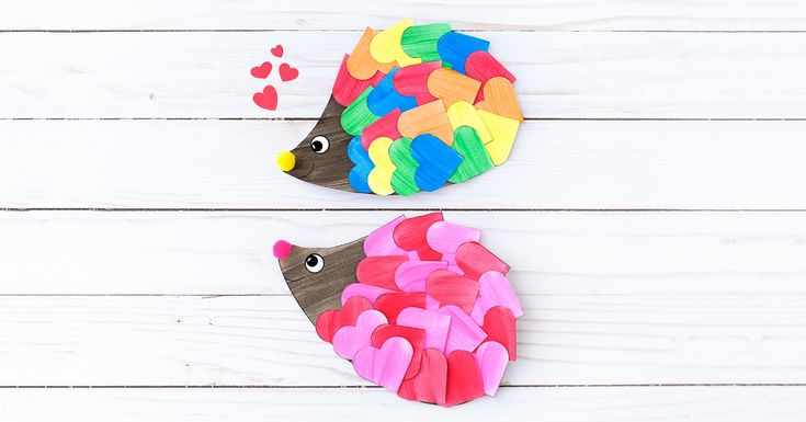 Kids of all ages will enjoy creating a handmade Heart Hedgehog Craft this Valentine's Day for friends and family.