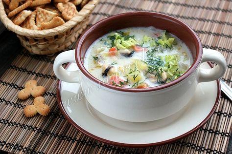 Рецепт супа Клем Чаудер из морепродуктов и рыбы