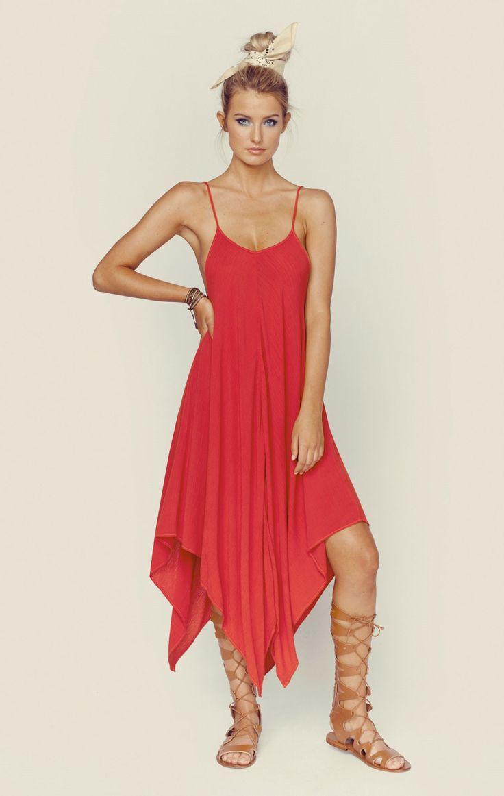 SUNDOWN HANKI CAMI DRESS   @ShopPlanetBlue