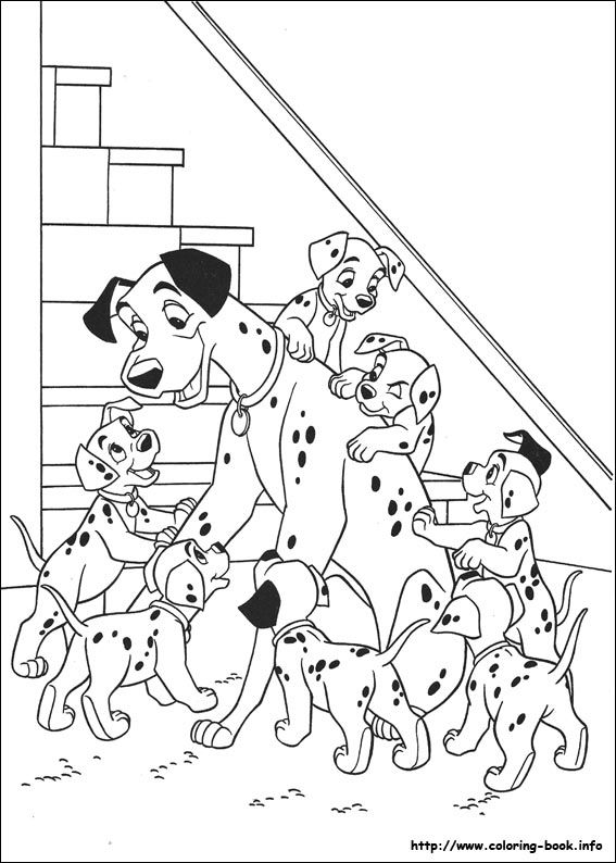 230 best 101 Dalmations coloring pages images on Pinterest