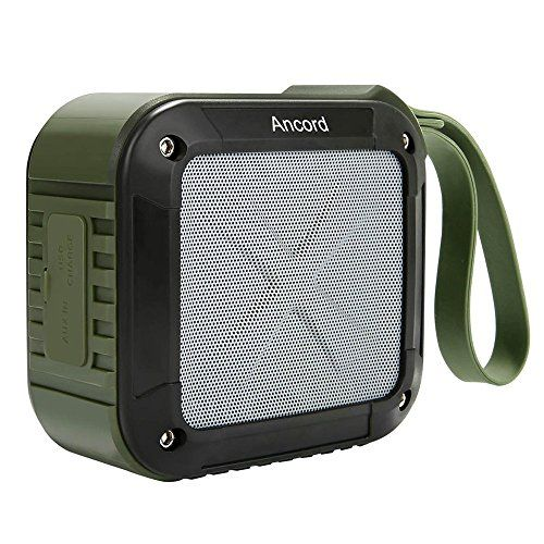 Cheap Ancord Portable Outdoor Bluetooth Speaker with FM Radio - Waterproof    Rechargeable (Green) Best Selling
