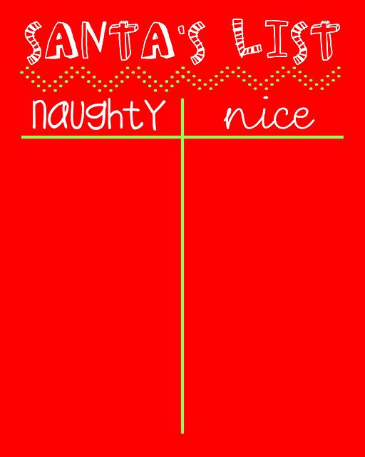 Naughty or Nice List Printable