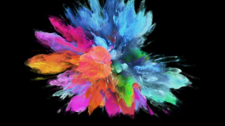 Color Burst Colorful Pink Blue Smoke Explosion Fluid