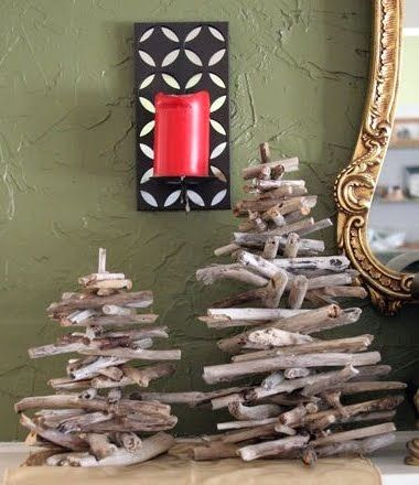 Driftwood trees (or Christmas trees)