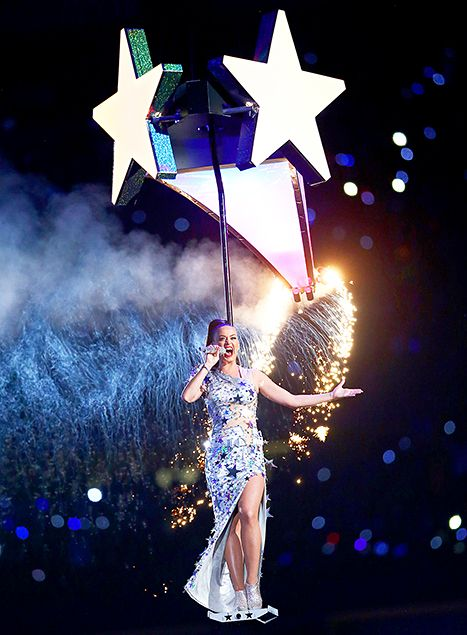 Katy Perry performs during the Pepsi Super Bowl XLIX Halftime Show at University of Phoenix Stadium on February 1
