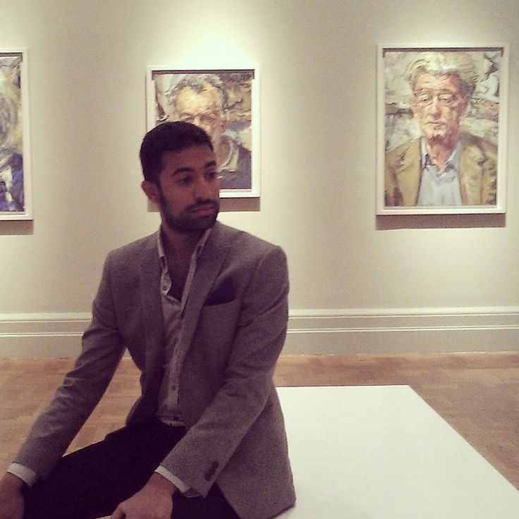 Reminiscing in the National Portait Gallery London.