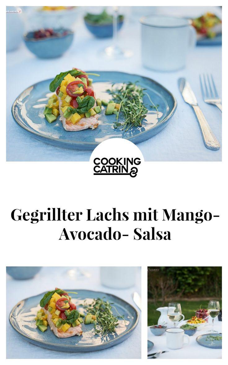 Lachs, Mango, Avocado, Salsa, Sommer, Fisch, grillen, Barbecue, BBQ, fish, healthy, salmon
