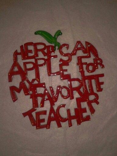 Una manzana para la maestra de ingles