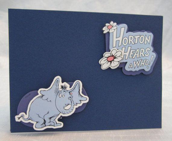Set 0f 2 Cards Horton Dr Seuss Horton by WistfulWhimsyDesigns