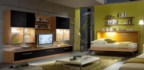 Bedkast Milano is op deze foto te zien met een combinatie van: ombouw Noce en front hoogglans zwart. Slaapmaat 90 / 200 cm. Voor de matras kunt u kiezen uit polyether, binnenvering of pocketvering.
