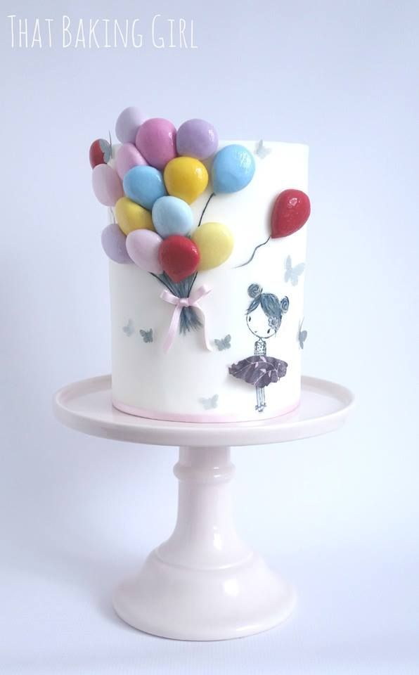 Images Of Birthday Cake And Balloons : 17 best ideas about Balloon Cake on Pinterest Birthday ...