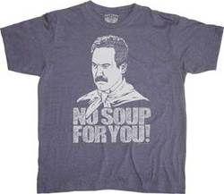 Soup Nazi Blue Adult T-Shirt