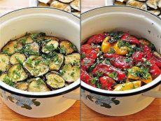 Закуска из маринованных баклажанов и перцев-гриль. Чумовая закуска! Любители баклажан и остренького - оценят! Отлично готовить…