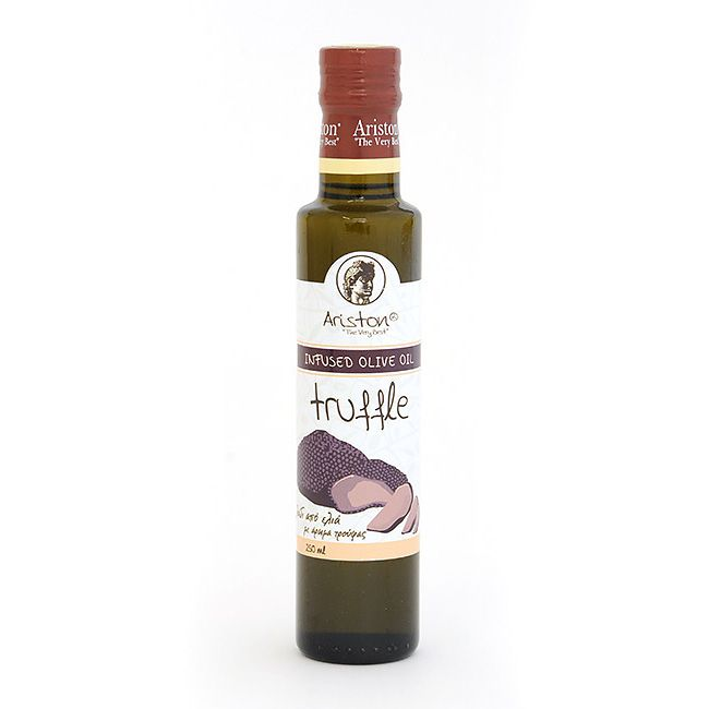 Truffle flavored olive oil from Greece