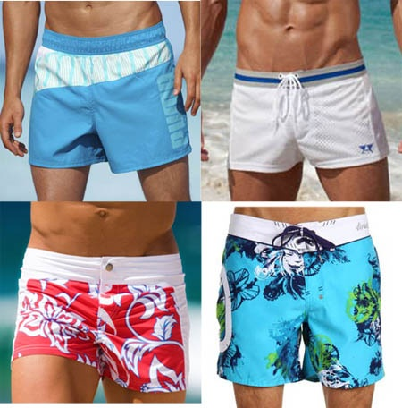 Men's Swimwear Trends for Summer 2012 and they are short.  Can't stand long shorts.