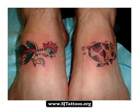 1000 images about tats stuff on pinterest rooster for Pig and rooster tattoo meaning