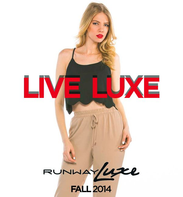 ~ Stop by and view our fall collection ~ www.runwayluxe.com #fashion #fall #croptop #live #luxe #runwayluxe