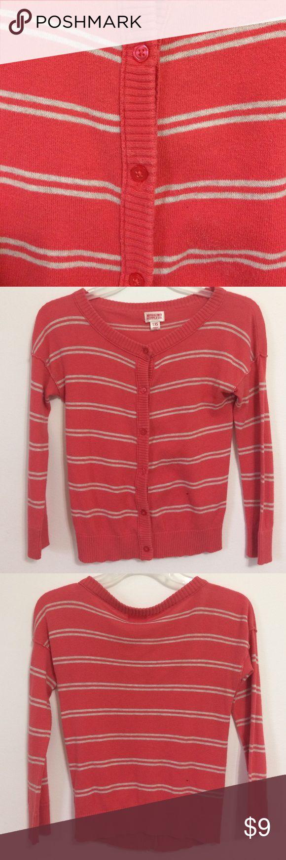 Orange white striped cardigan Orange, white thin stripes, wide neck cardigan Mossimo Supply Co Sweaters Cardigans