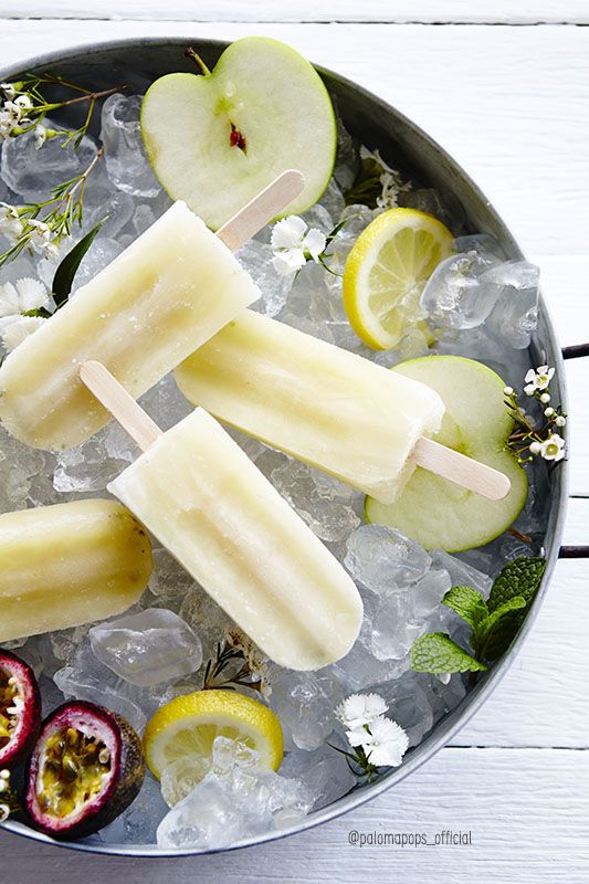 Cloudy Apple & Passionfruit all natural, whole fruit ice pops without any added sugar