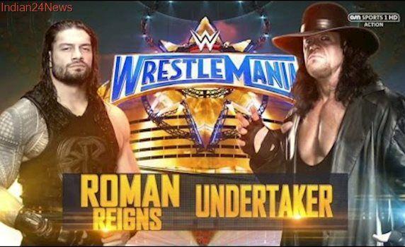 WWE Roman Reigns Vs. The Undertaker - Wrestlemania 33 Highlights