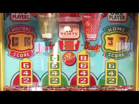 A closer look at a Genco Basketball Machine - YouTube