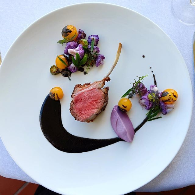 Rough plate up for a tasting today... Lamb, cauliflower, okra, charred sungold…