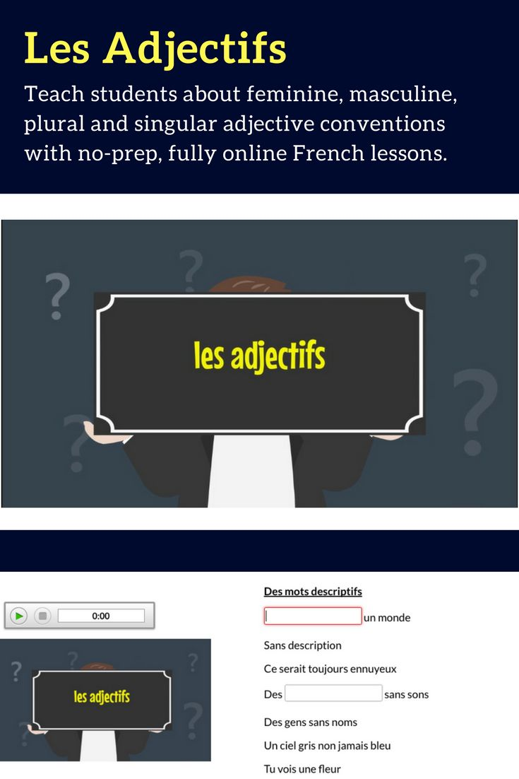 No-Prep French Grammar Lessons. Boost language learning in your classroom by starting your 30 day FREE trial today!