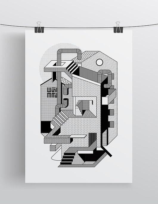 dodatki - plakaty, ilustracje, obrazy - grafika-Arkitekczer | A3