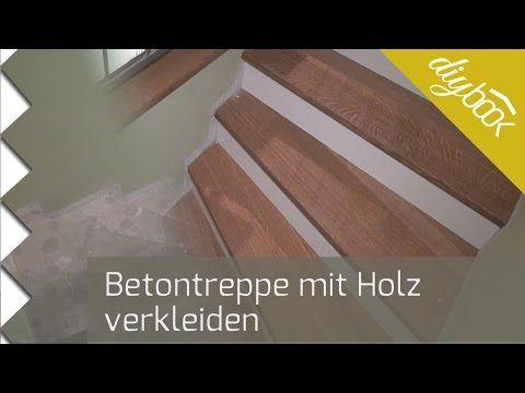 Betontreppe verkleiden - Treppenverkleidung mit Holz - Anleitung @ diybook.de