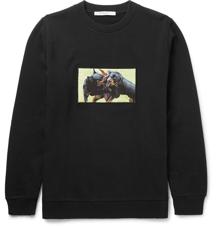 Givenchy - Rottweiler Fleece-Back Cotton-Jersey Sweatshirt