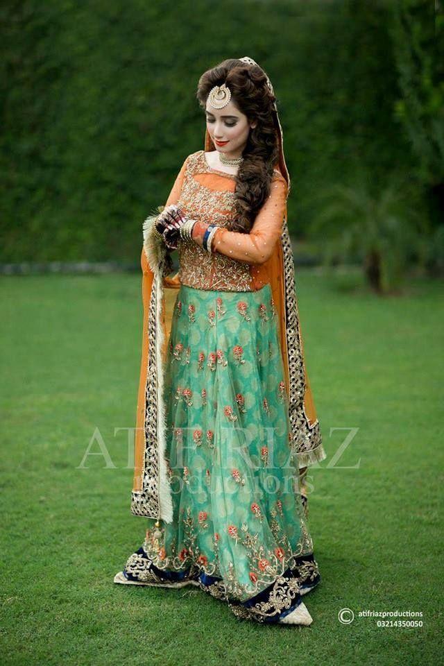 Latest bridal mehndi dress for 2016