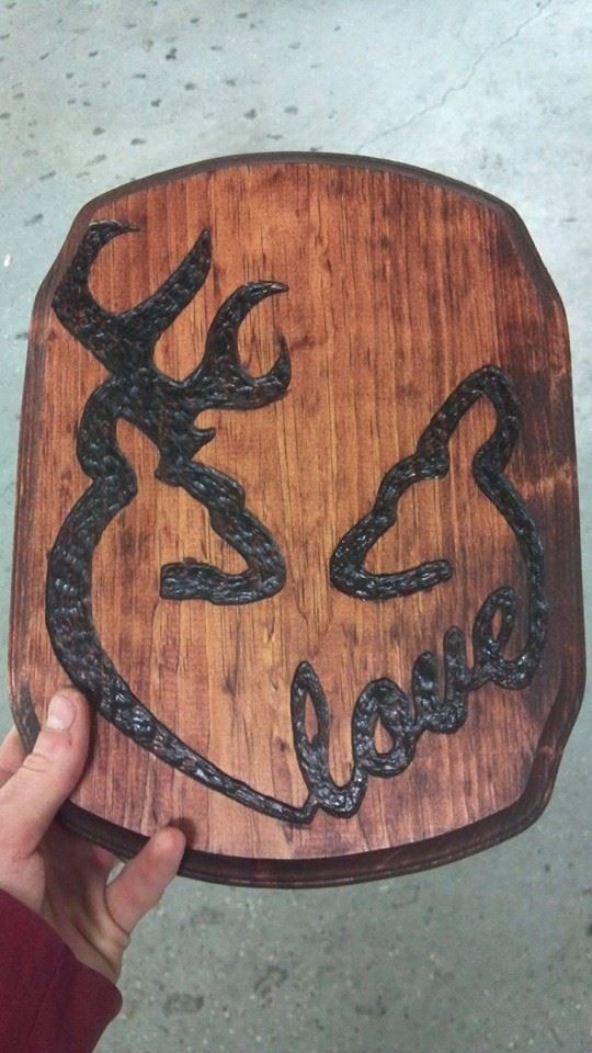 Hey, I found this really awesome Etsy listing at https://www.etsy.com/listing/167224562/custom-browning-deer-love-plaque