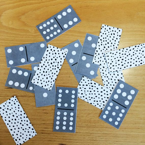 Double-Twelve Domino Card Set  Game Toy by paper4download on Etsy