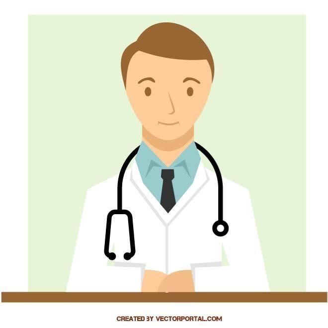 Doctor image in vector format.
