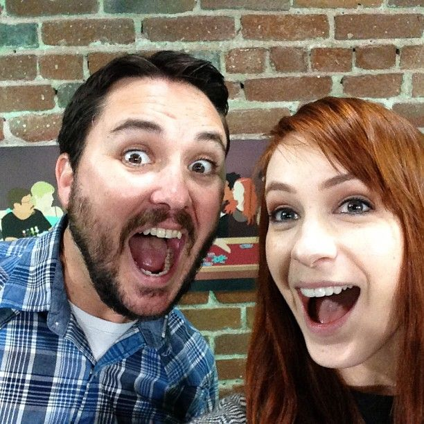Will Wheaton & Felicia Day this makes my nerd heart very happy  My heroes. I know I married my soul mate because he loves them as much as I do!