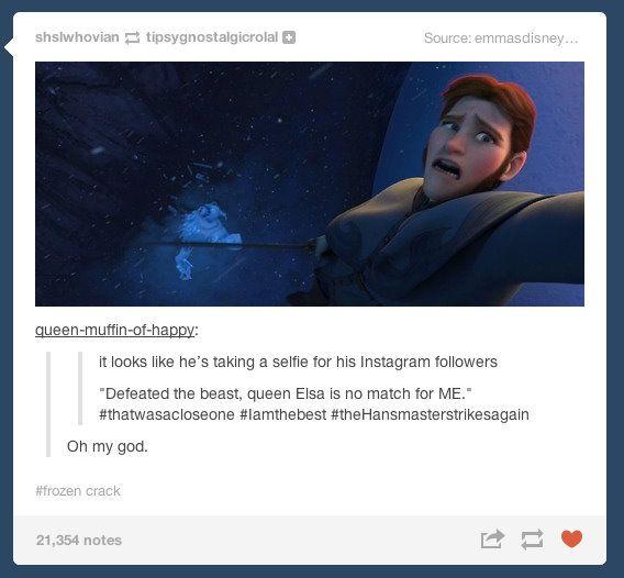 Frozen Hans Selfie