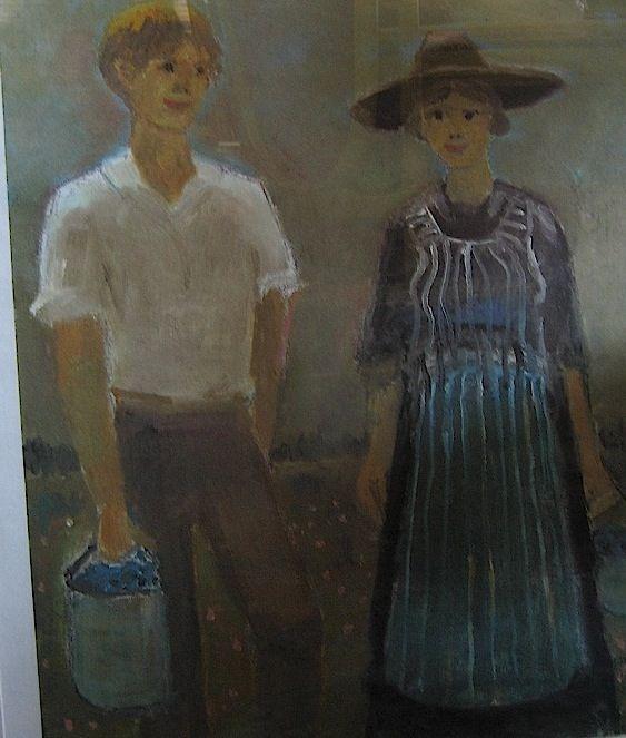 """Jean-Paul Lemieux, peintre, Canada. Série Maria Chapdelaine"""""""