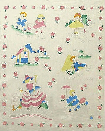 Fabric depot vintage nursery rhymes pinterest fabrics for Retro nursery fabric