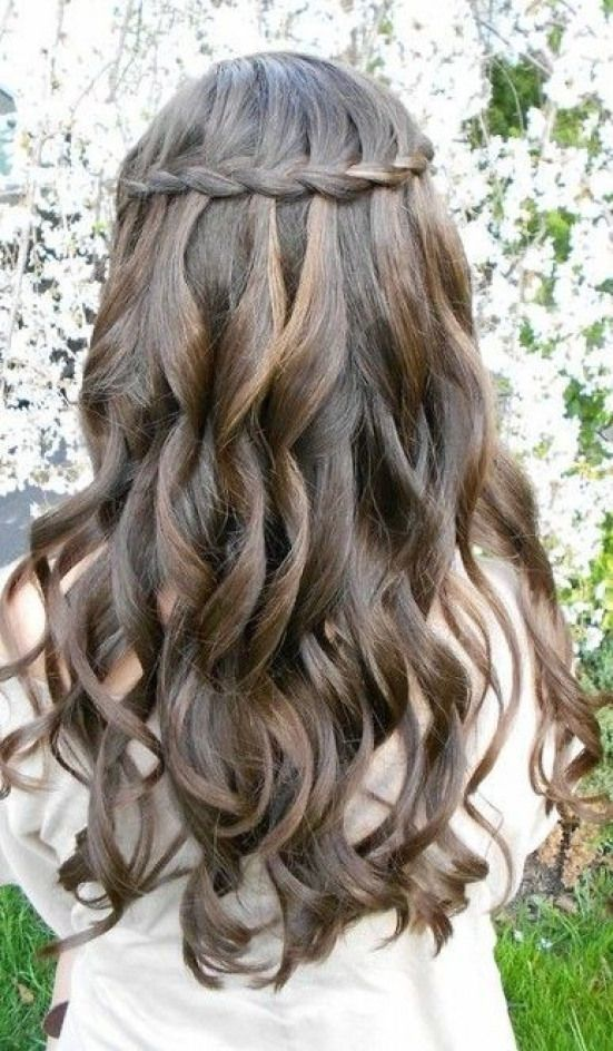 Loose curls with crown braid homecoming hairstyle – 7 Braided Hairstyles Perfect For Homecoming #curlyhairstyles #curly #hairstyles #for