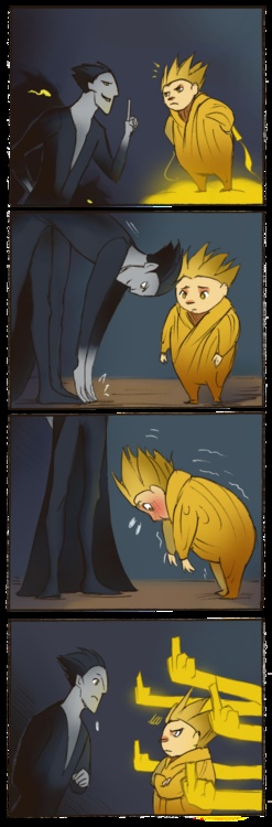 hahaha touch your toes sandman! (from rise of the guardians)