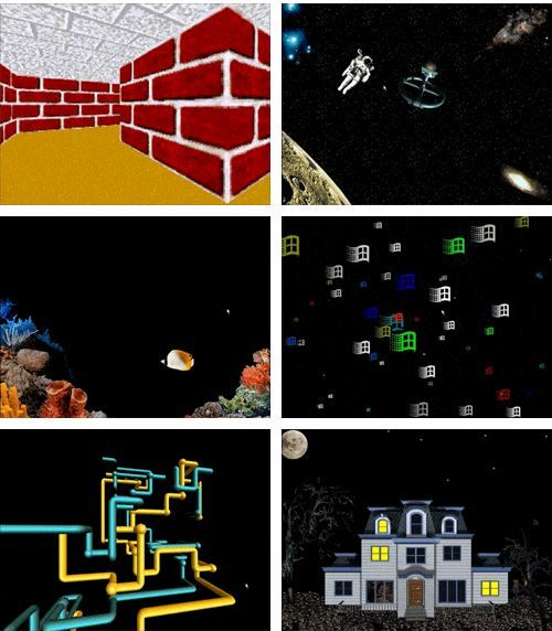 Windows 98 screensavers. My favorites were the astronaut and fish. Courtesy of…