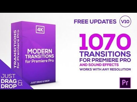 Premiere pro - 1070 Modern transitions ( FREE DOWNLOAD ) - YouTube