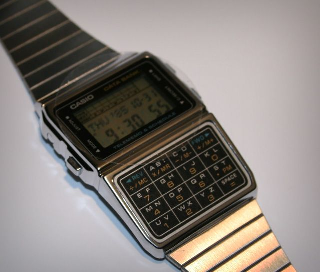 Casio databank LCD watch – 1985 style
