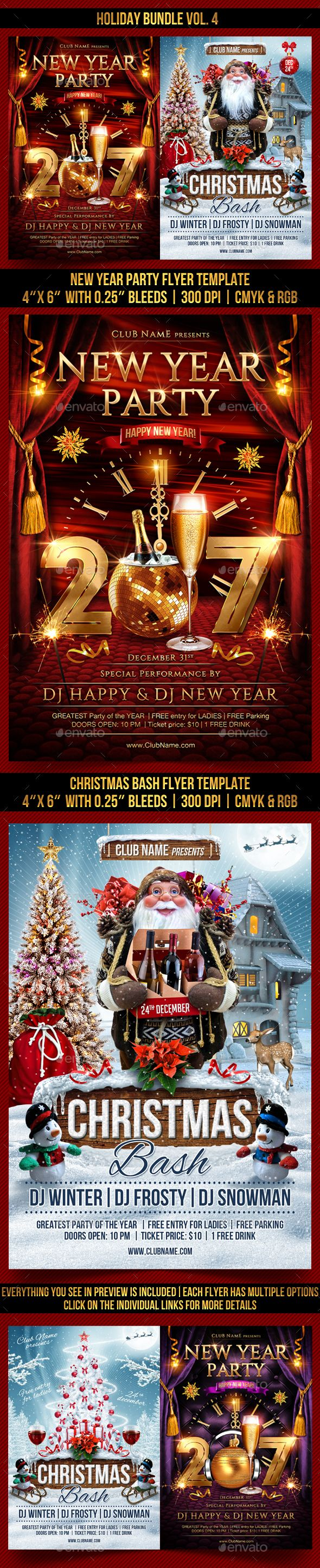 best images about christmas flyer templates holiday bundle vol 4