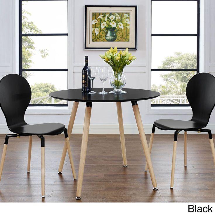 Track Circular Black Natural Dining Table Overstock Com