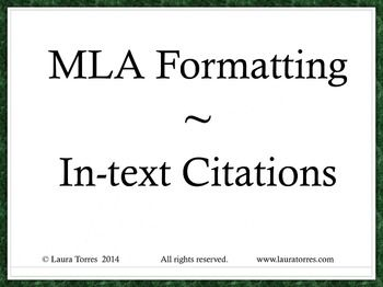 17 Best images about MLA Format on Pinterest | High school ...