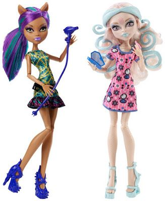 Clawdeen Wolf and Viperine Gorgon Scare and Make-Up K-mart Exclusive Monster High Dolls 2-Pack, 2015