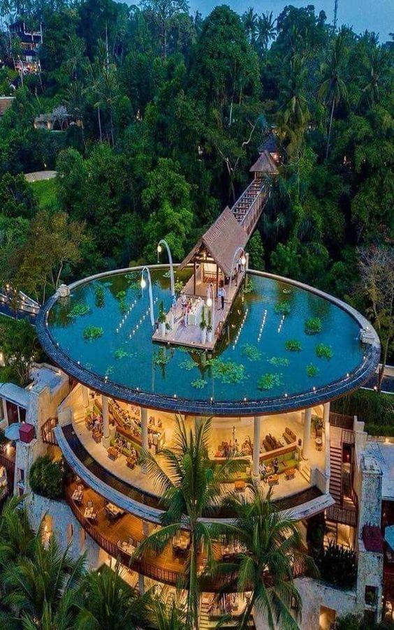 Pool – Zuhause Urlaub Pool Restaurant gigantisch – krabana banana
