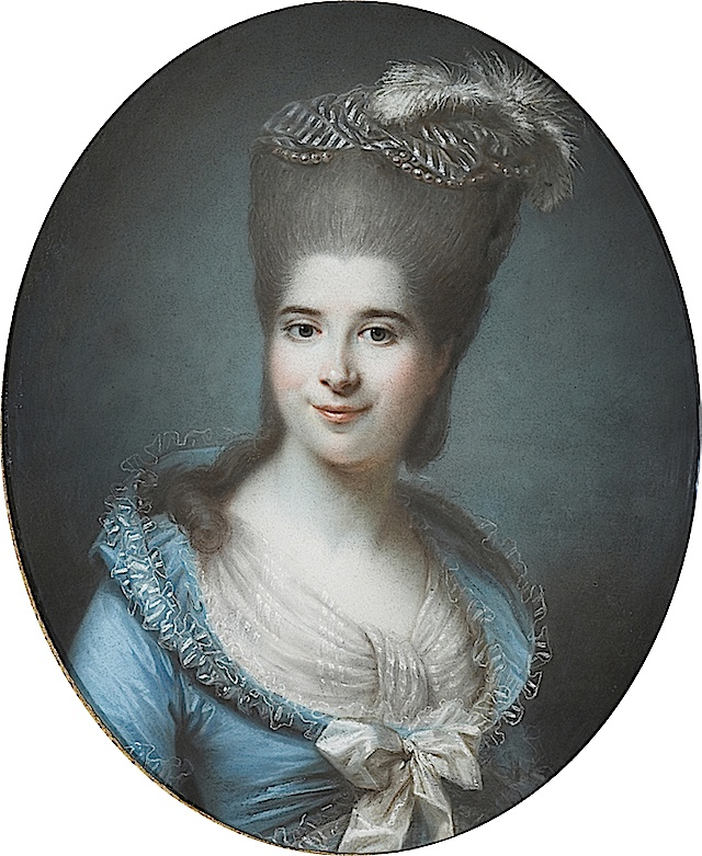 Madame Antoine Seguier, Madame de La Bastide, nee Vastal by Pierre Adolphe Hall, circa 1782     Antoine was born in a wealthy Montpellier family of tax collects and was the sister of the famous art collector Jean-Antoine Vassal de Saint-Hubert.