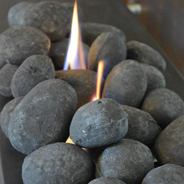 Nu-Flame 25 Piece Black Ceramic Fiber Fireplace Stones